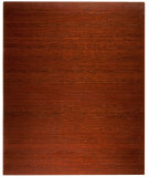 RugStudio presents Anji Mountain Bamboo Chair Mat Deluxe No Lip Dark Cherry Area Rug